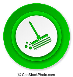 broom icon, clean sign