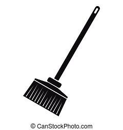 Broom icon. Simple illustration of broom vector icon for web