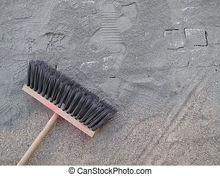 Broom left while lunch break.