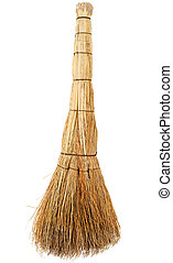 Broom on a white background