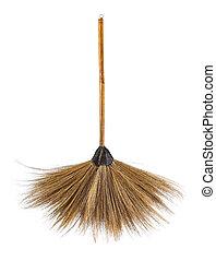 Broom on white background.