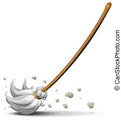 broom sweep floor vector illustration