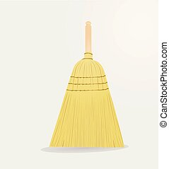 Broom vector illustration