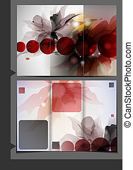 brosúra, sablon, design.
