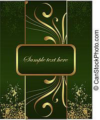 broschüre, goldenes