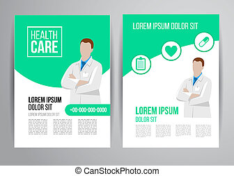 broschüre, healthcare