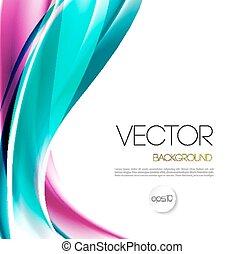 broschüre, hintergrund, abstrakt, schablone, welle, design