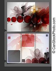 broschüre, schablone, design.