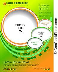 broschüre, zufriedene , design, hintergrund