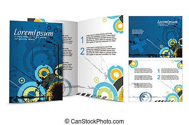 broschyr, design