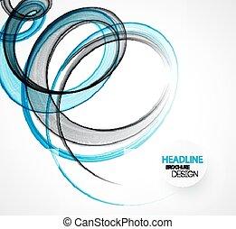 broschyr, transparent, bakgrund, abstrakt, mall, våg, design