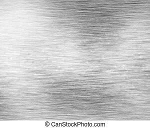 brossé, alluminium, cliché métal