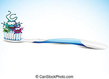 brosse dents, bactérie