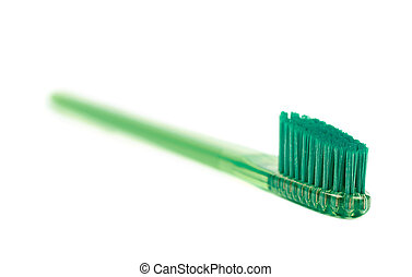brosse dents, isolé, plastique