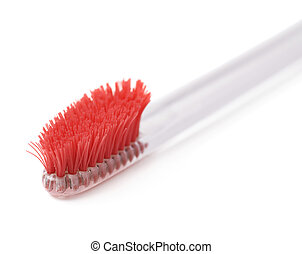 brosse dents, well-worn, plastique