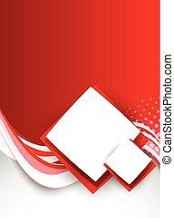 broszura, abstrakcyjny, czerwony