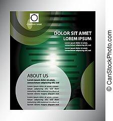 broszura, abstrakcyjny, zieleń handlowa