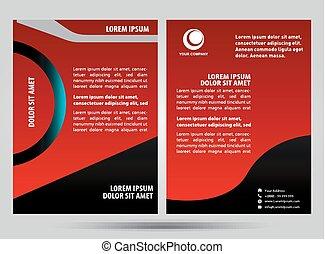 broszura, czerwony
