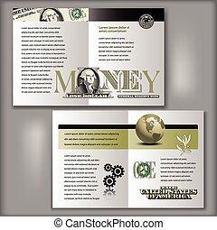broszura, halabarda, dolar, szablon, jeden