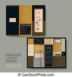 broszura, projektować, klasyk