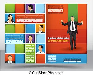 broszura, projektować, szablon