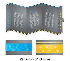 broszura, szczególny, handlowa karta