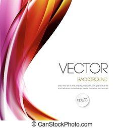 broszura, tło, abstrakcyjny, szablon, machać, projektować