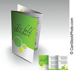 broszura, tri-fold, projektować