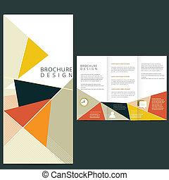 broszura, wektor, układ