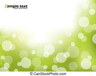 broszura, zielony abstrakt, projektować, bańki