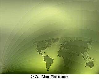 broszura, zielony abstrakt, projektować