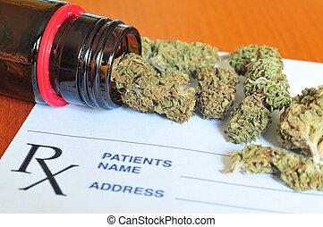brotes, papel, prescripción,  marijuana