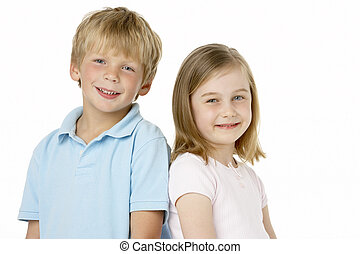 Brother And Sister Smiling