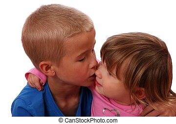 Brother Kissing Sister