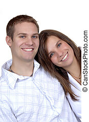 Brother & Sister - A Happy Brother And Sister, Isolated Over...