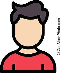 brother vector line colour icon