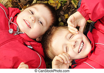 Brothers on leaves