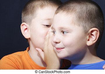 Brothers sharing secrets