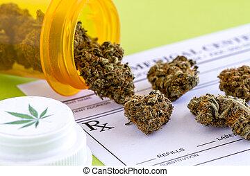 brotos, médico, sementes, marijuana