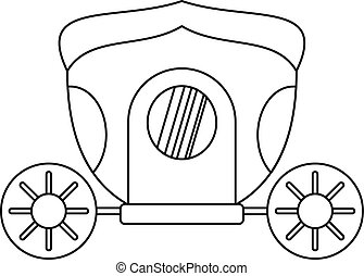 Brougham icon, outline style - Brougham icon. Outline...
