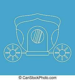 Brougham icon, outline style