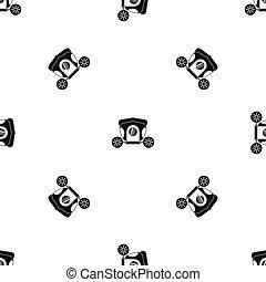 Brougham pattern seamless black