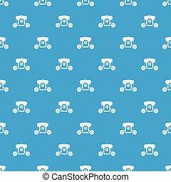 Brougham pattern seamless blue