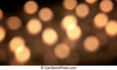 brouillé, bougies