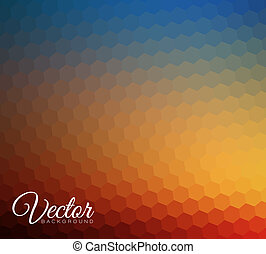 brouillé, hexagonal, fond, résumé