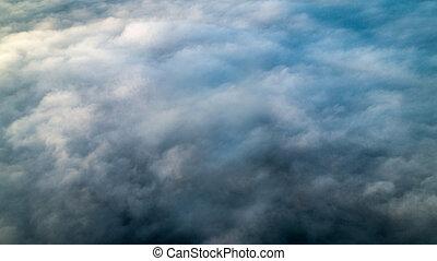 brouillard, dense, fond