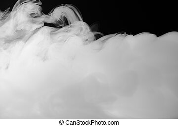 brouillard, dense, fumée, fond