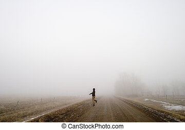 brouillard, heureux
