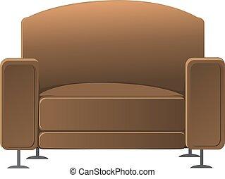 broun armchair - broun armchair