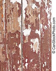 Broun fence. Old paint